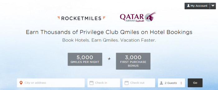 Rocketmiles Qatar Airways Privilege Club 3,000 Bonus Miles
