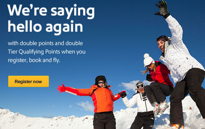 Southwest Airlines Rapid Rewards Double Points & Double Tier Qualifying Points Promo