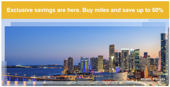 United Airlines Buy MileagePlus Miles Jnauary 2015 Targeted Offer