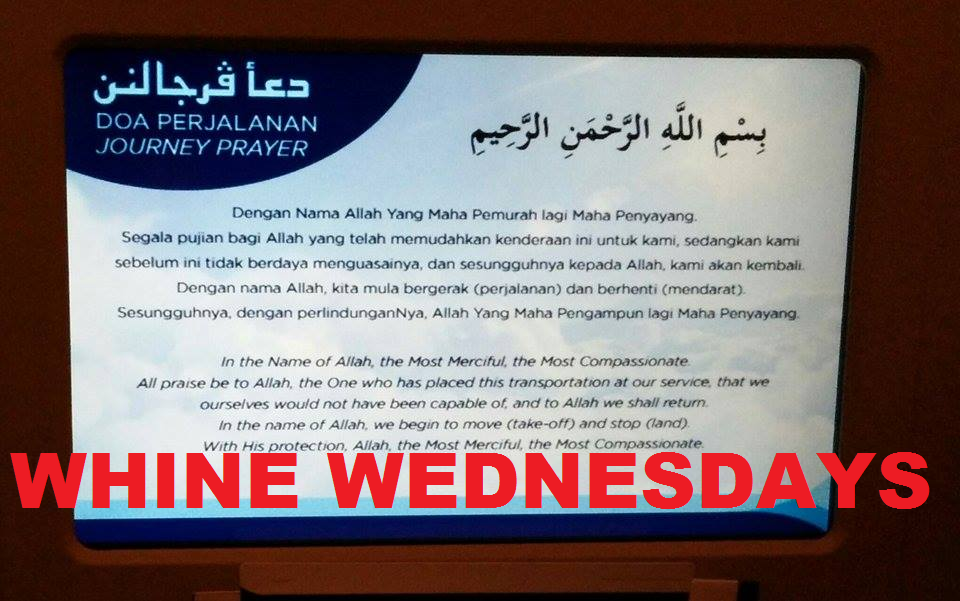 Whine Wednesdays Journey Prayer On Malaysia Airlines