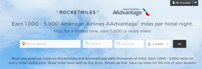American Airlines US Airways Rocketmiles 5,000 Bonus Miles First Booking April 15, 2015