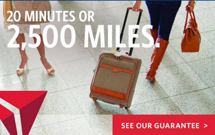 Delta Air Lines Bag Guarantee 20 Minutes