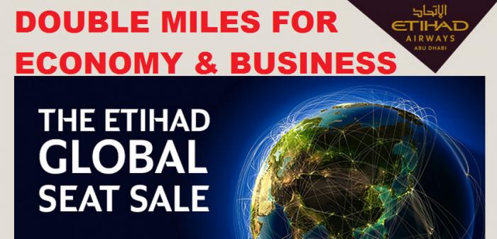 Etihad Airways Etihad Guest Double Miles Economy Business Class March 3 - December 12 2015