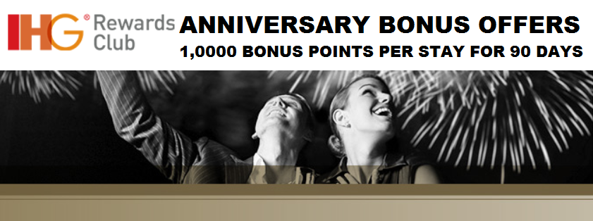 IHG® Rewards Club is responsible for fulfilment of the bonus points offer. Please allow 6 to 8 weeks for the bonus points to be posted to your account. This Offer is subject to the General Promotion Terms and standard IHG® Rewards Club Membership Terms and Conditions and earning structure, which can be obtained by visiting playsvaluable.mlardsclub.