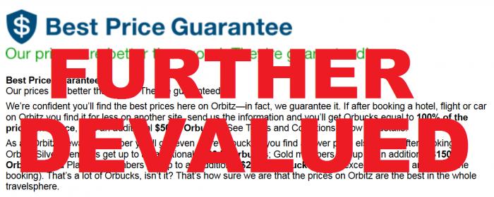 Orbitz Best Price Guarantee Further Devalued