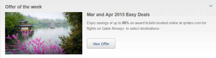 Qatar Airways Easy Deals March April 2015