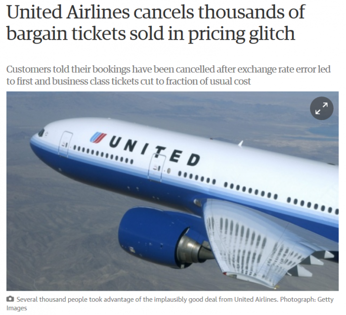 United Airlines Cancels Thousands Of TIckets