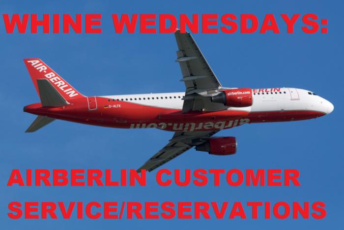 Whine Wednesdays Airberlin