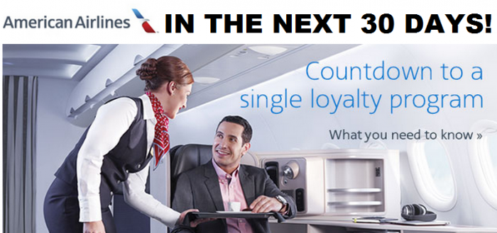 American Airlines AAdvantage Countdown To Single Program
