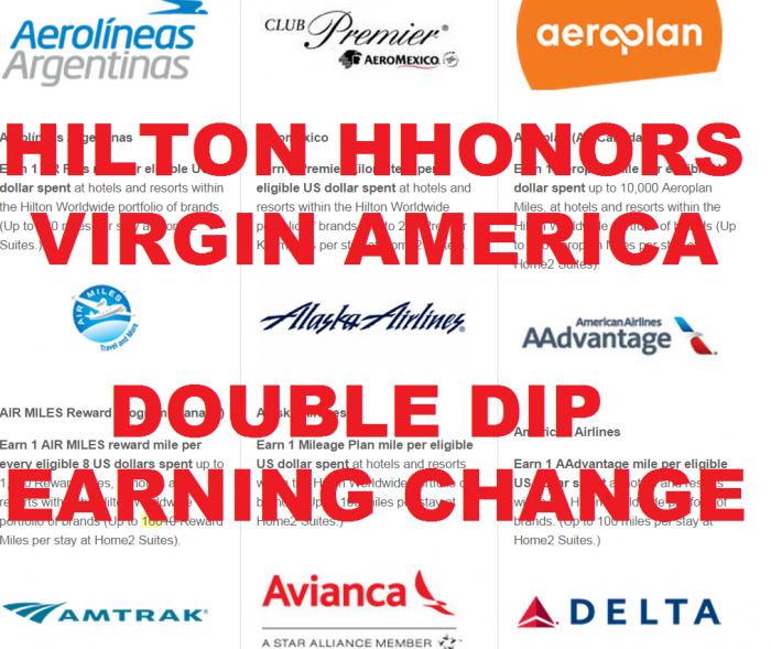 Hilton HHonors Virgin America Earning Change