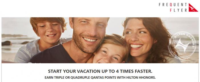 Hilton Hhonors Qantas Frequent Flier Up To Quadruple Points March 1 - June 30 2015