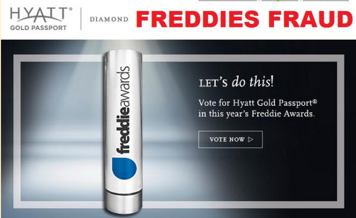 Hyatt Gold Passport Freddie Awards Voting Fraud