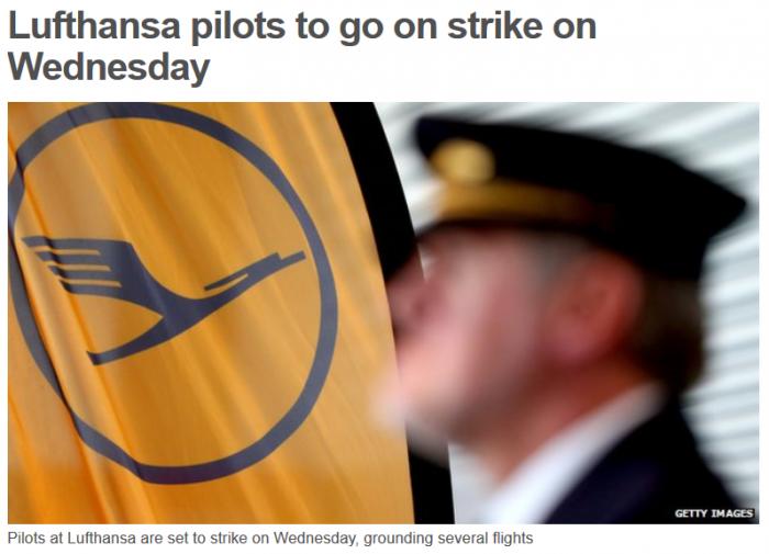 Lufthansa Strike March 18 2015