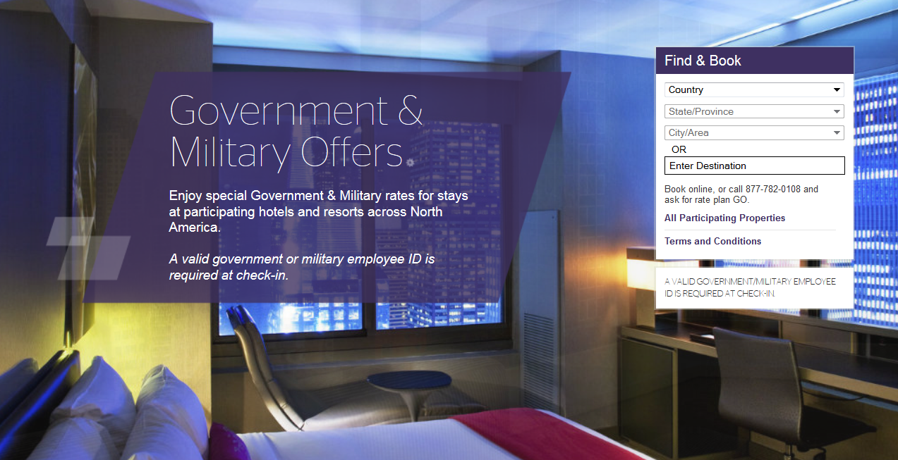 Nov 09,  · The World of Hyatt is adding another benefit to their program by offering a veteran and military rate. Discounted veteran and military rates of 10% to 15% begin today at participating Hyatt hotels in the US. You have to use offer code MILVET on the Hyatt website or when calling Hyatt to get the discount. The rate applies to up to 2 rooms per stay and is not combinable with other discounts. .