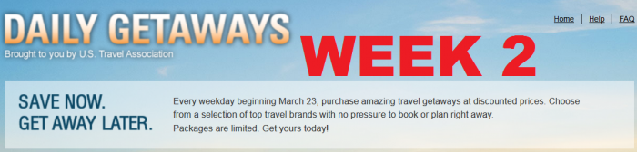 U.S. Travel Association Daily Getaways 2015 Week 2 March 30 April 3 2015