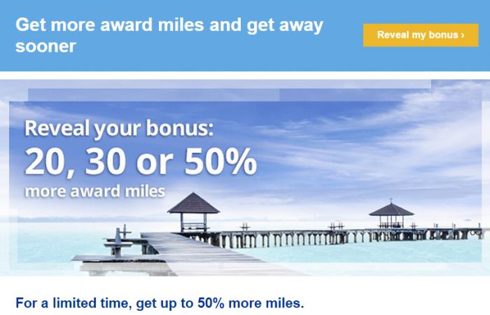 United Airlines MileagePlus Up To 50 Percent Bonus March 2015