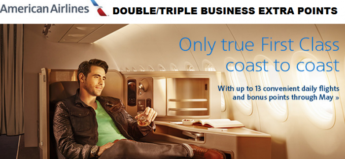 American Airlines AAdvantage Business Extra Double Triple Points Promo April 16 May 31 2015