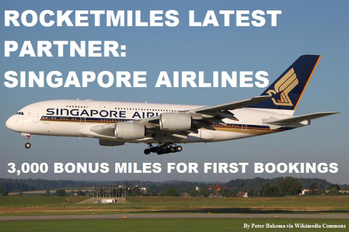 Rocketmiles Singapore Airlines
