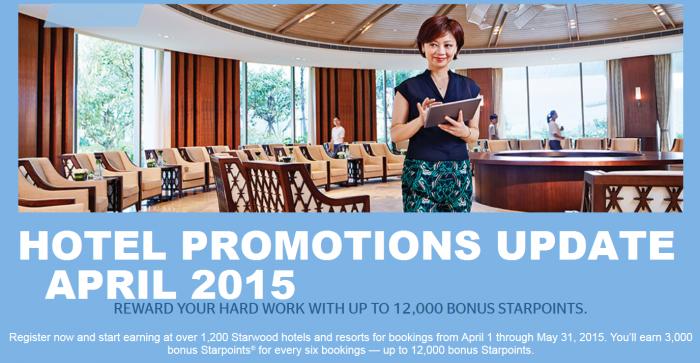 SPG Pro 12,000 Bonus Starpoints April 1 May 31 2015