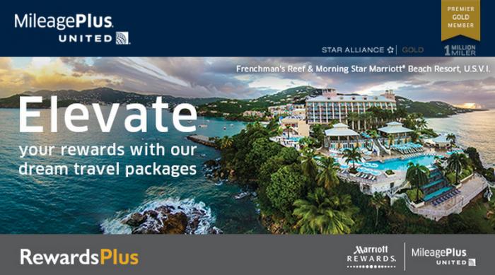 United Airlines MileagePlus Marriott Rewards RewardsPlus Bonus