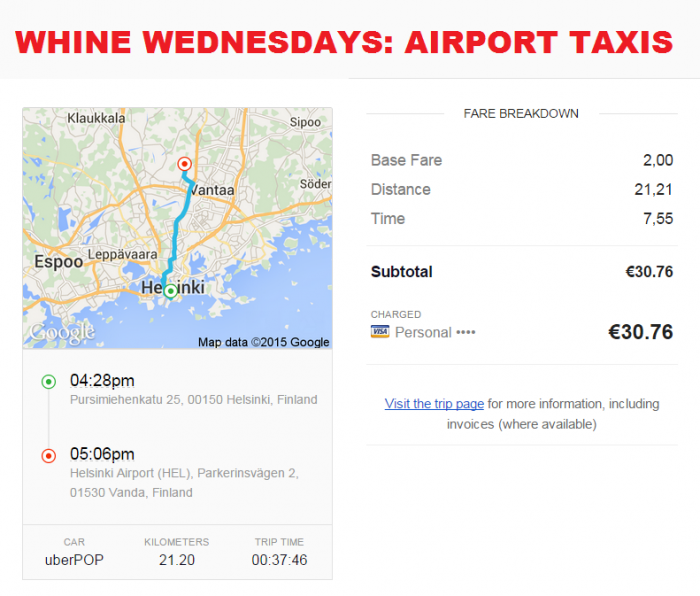 Whine Wednesdays Airport Taxis