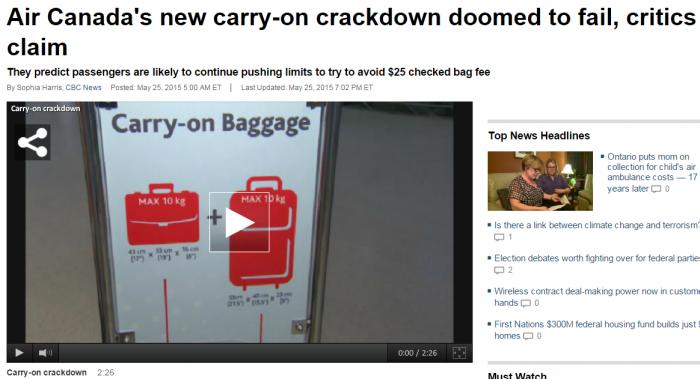 Air Canada Crackdown