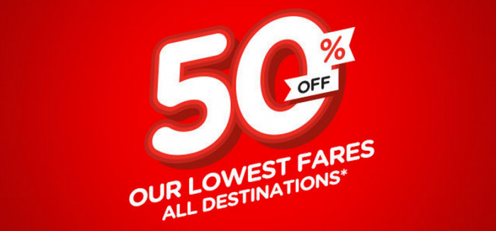 AirAsia May 2015 50 Percent Off Flight Sale