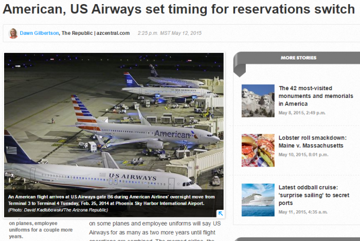 American Airlines US Airways Reservations Switch