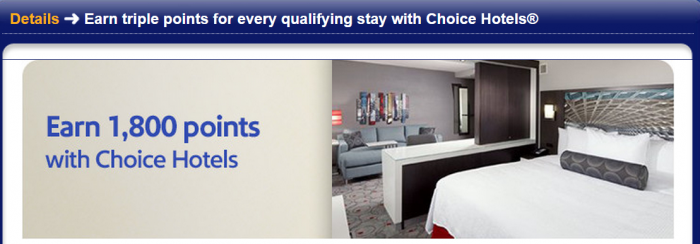 Choice Privileges Southwest Airlines 1800 Rapid Rewards Points per Stay May 1 July 31 2015