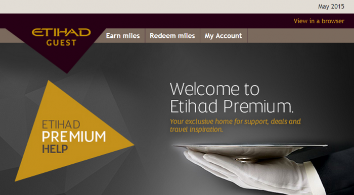 Etihad Airways Guest Premium Help