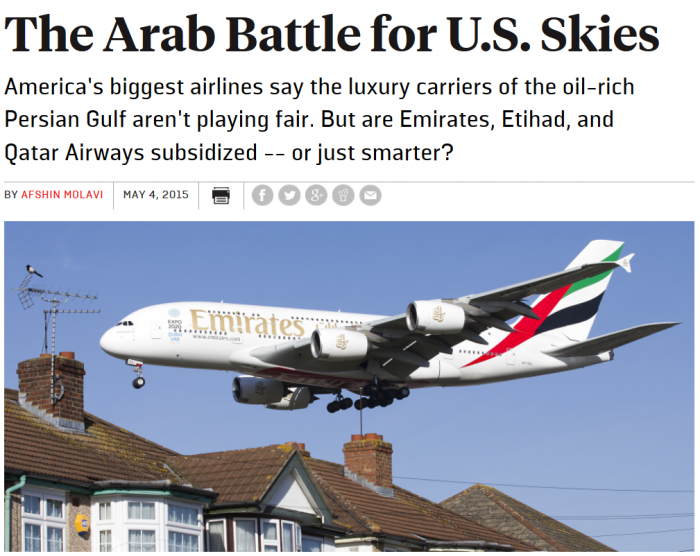 Foreign Policy The Arab Battle for U.S. Skies