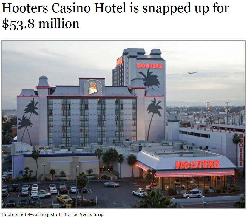 Hooters In Las Vegas Reflagged And Becomes Ihg Affiliated Loyaltylobby