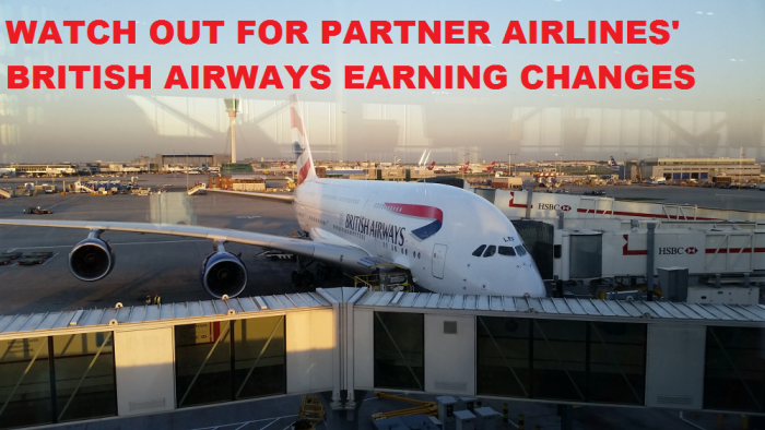 Partner Airline British Airways Earning Changes