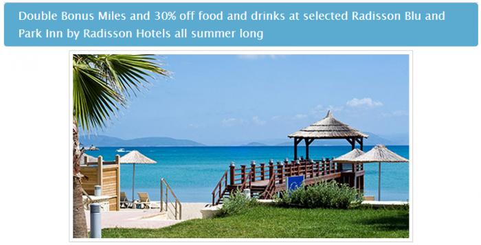 Radisson Blu & Park Inn Turkish Airlines Double Miles June 1 August 31 2015