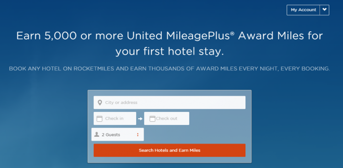 Rocketmiles United Airlines 5,000 Miles First Booking Offer By July 31, 2015