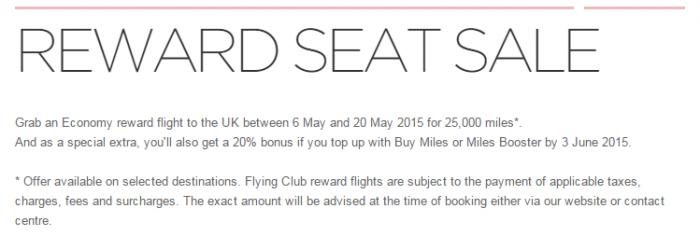 Virgin Atlantic Flying Club Buy Miles Spring 2015 Spend Miles Promo
