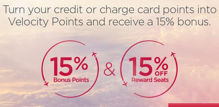 Virgin Australia Velocity 15 Percent Off Award Sale June 30 2015