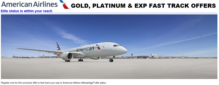 American Airlines Fast Track Offer Summer 2015