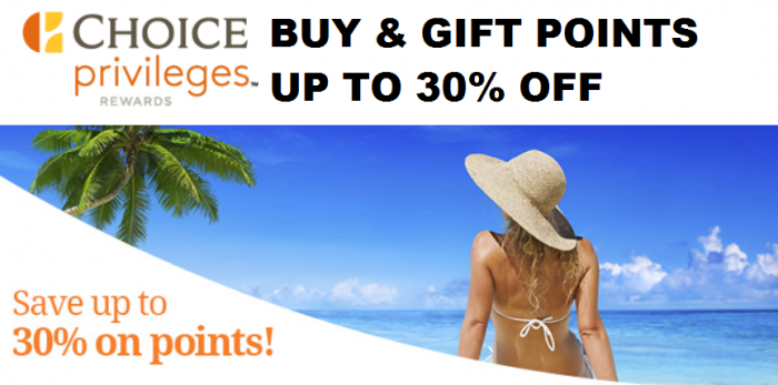 Choice Privileges Buy Points Up To 30 Percent Off Until July 29, 2015