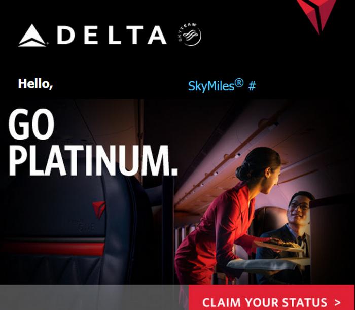 Delta Air Lines SkyMiles Platinum Fast Track