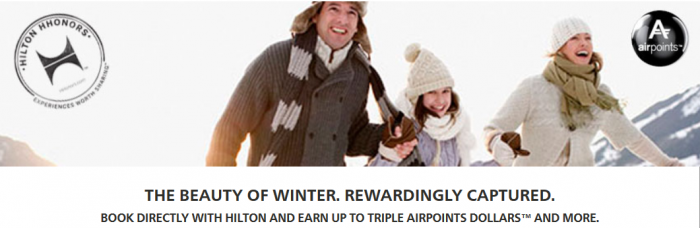 Hilton HHonors Air New Zealand Up To Triple Airpoints Dollars June 1 August 31 2015