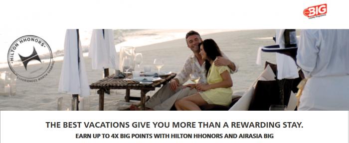 Hilton HHonors AirAsia Big Up To Quadruple Points June 1 August 31 2015