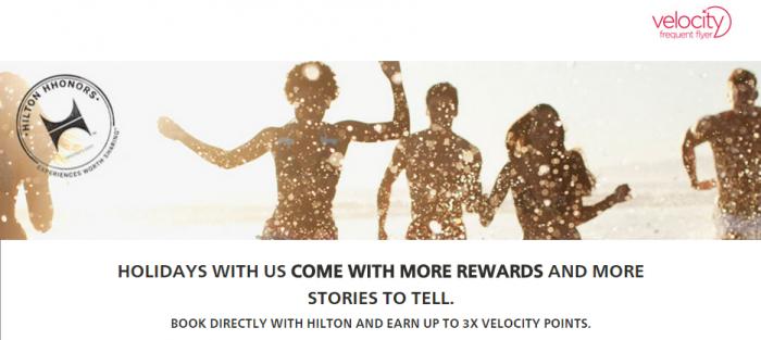 Hilton HHonors Virgin Australia Up To Triple Velocity Points June 1 August 31 2015