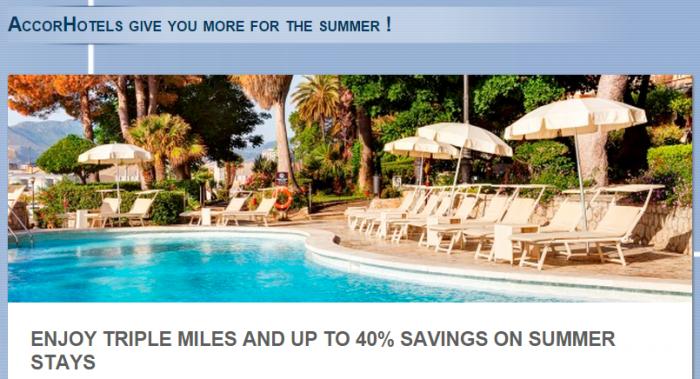 Le Club Accorhotels Air France-KLM Triple Flying Blue Miles June 26 - August 31 2015