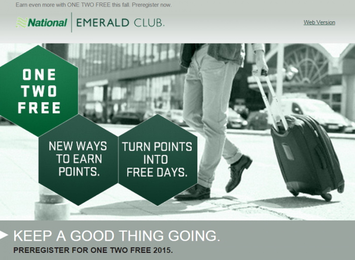 National Car Rental One Two Free Fall 2015