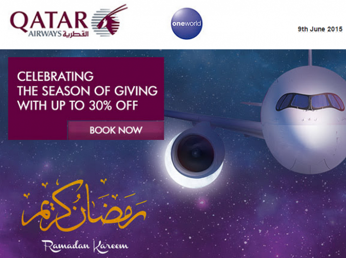 Qatar Airways Ramadan Fares