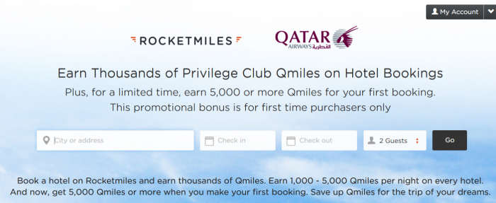 RocketMiles Qatar Airways Privilege Club 5,000 Or More Bonus Miles
