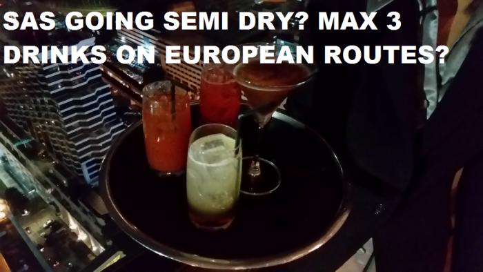 SAS Limit Drinks To Three On European Routes