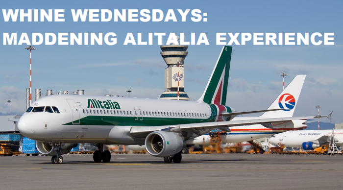 Whine Wednesdays Alitalia Phone Service