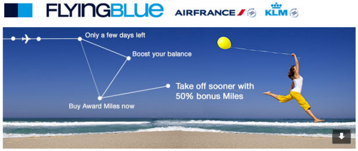Air France-KLM Flying Blue Buy Miles Up To 50 Percent Bonus July 21 2015